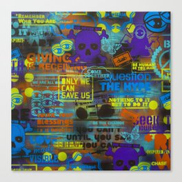 Uplifting Collage (fluo) Canvas Print