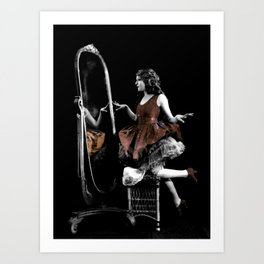 Through The Looking Glass Brown Art Print