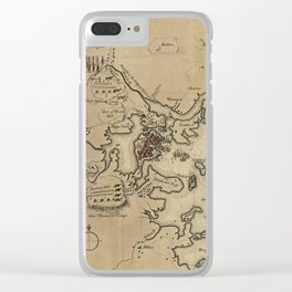 Vintage Boston Revolutionary War Map (1775) Clear iPhone Case