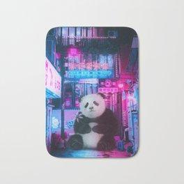 Giant panda in a Chinese street by GEN Z Bath Mat