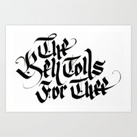 The Bell Tolls for Thee Art Print