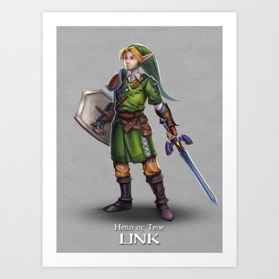 The Legend of Zelda: Link Art Print