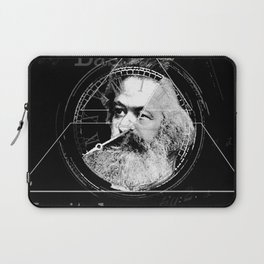 The Time of Marx Dark Laptop Sleeve