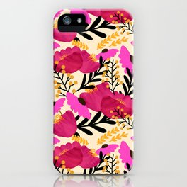 Vibrant Floral Wallpaper iPhone Case