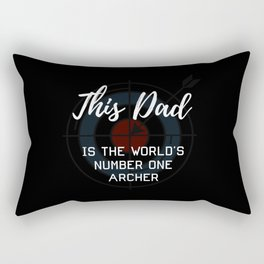 This Dad Is The World's Number One Archer Rectangular Pillow