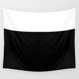 Color Block-Black and White Wall Tapestry