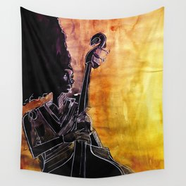 Make Coffee Love and Jazz Wall Tapestry