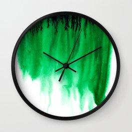 Emerald Bleed Wall Clock