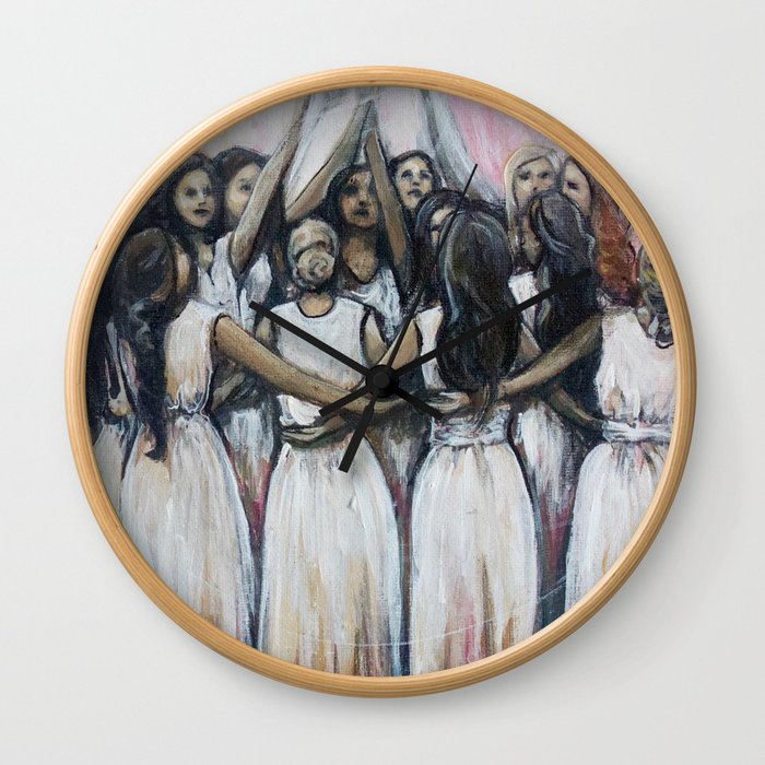 Sister Circle // Women Feminism Feminist Sisterhood Goddess Earth Moon Unity Peace Love Power Energy Wall Clock