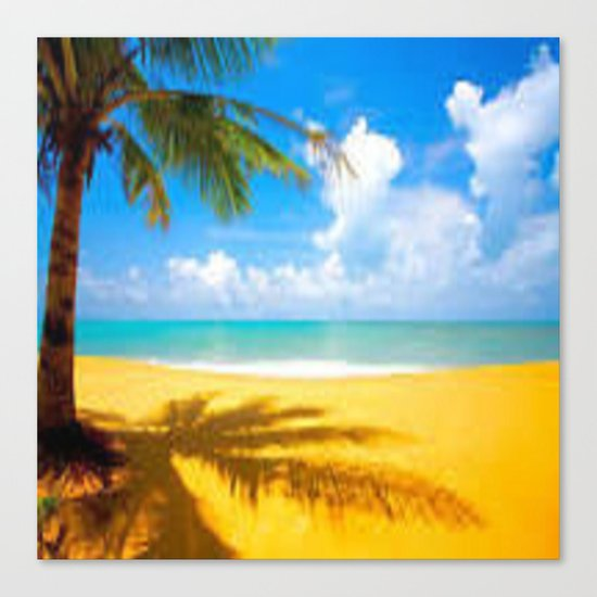 kill the beach Canvas Print