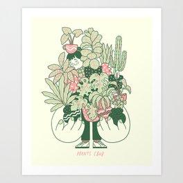 Plants Club (girl) Art Print
