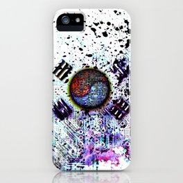 in to the sky, circuit board (south korea) iPhone Case