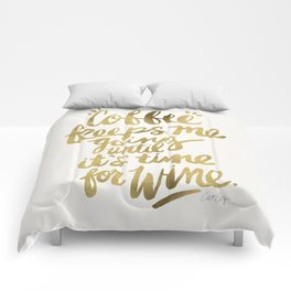 Coffee & Wine – Gold Comforters