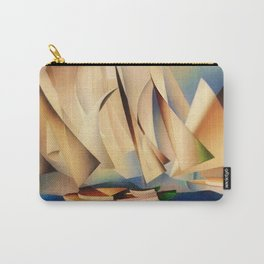 American Masterpiece 'Pertaining to Yachts and Yachting' by Charles Sheeler Carry-All Pouch