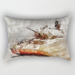 Crusader Tank, World War Two Rectangular Pillow