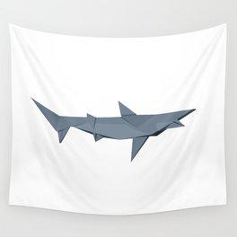Origami Shark Wall Tapestry