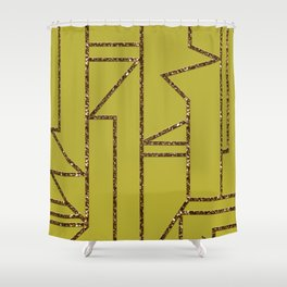 Ladders B (yellow) Shower Curtain