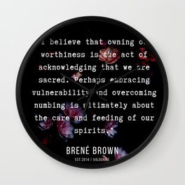 27   | Brene  Brown Quotes  | 190717 | Wall Clock