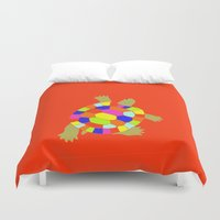 turtle Duvet Covers featuring turtle by vidikay