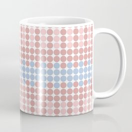 Blush Pink and Millennial Pink Polka Dots Pattern Coffee Mug