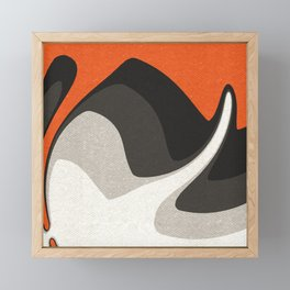 Abstract orange shapes Framed Mini Art Print