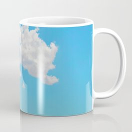 Pink Saguaro Against Blue Cloudy Sky Coffee Mug
