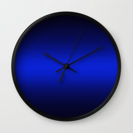 Gradient 8 back blue deepspace Wall Clock