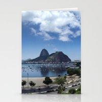 rio de janeiro Stationery Cards featuring Lovely Rio de Janeiro by Michel Lent
