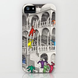pop escher II iPhone Case