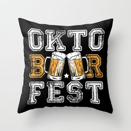 Oktoberfest Beer Throw Pillow