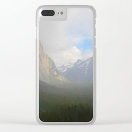 Fog Clearing at Yosemite Valley Clear iPhone Case