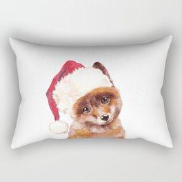 Christmas Baby Fox Rectangular Pillow