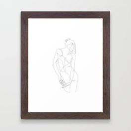 ligature - one line art Framed Art Print
