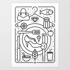 Food and Fashion Art Print