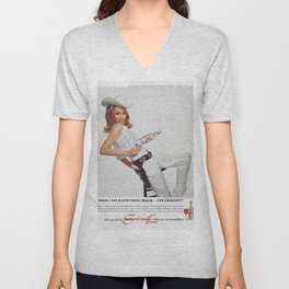 Vodka Martini - Julie Newmar Cowgirl - When I say Bloody Mary...Alcoholic Beverages Vintage Poster Unisex V-Neck