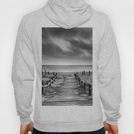 """To the beach...."" BW. At sunset Hoody"
