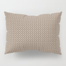 Knitted spring colors - Pantone Hazelnut Pillow Sham