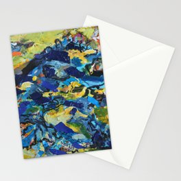 The Flood- Bold and Lively Mixed Media Collage on Paper Stationery Cards