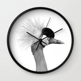 Exotic Crowned Crane Wall Clock