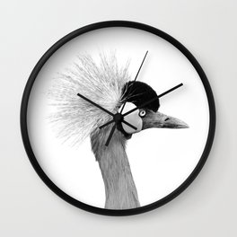 Exotic Crowned Crane Wall Clock