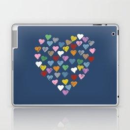 Distressed Hearts Heart Navy Laptop & iPad Skin