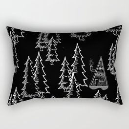 Lost in the wood, a lonely cabin (revers) Rectangular Pillow
