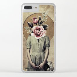 Flower lady Clear iPhone Case
