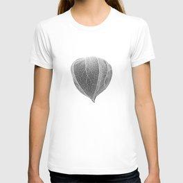 Chinese Lantern Pod - Mono Negative Macro T-shirt