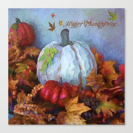 Happy Thanksgiving - Seasonal Art Canvas Print