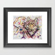 Wolf // Cuetlachtli Framed Art Print