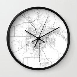 Minimal City Maps - Map Of Santa Rosa, California, United States Wall Clock