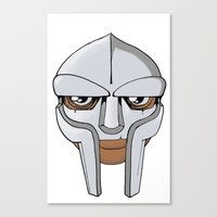 mf doom Canvas Prints featuring Mf Doom Colored by wa55up