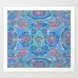 Pastel Illuminated Boho Mandala Art Print