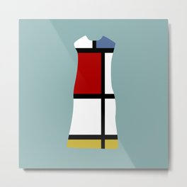 Fashion Designer Icons: Mondrian Dress Metal Print
